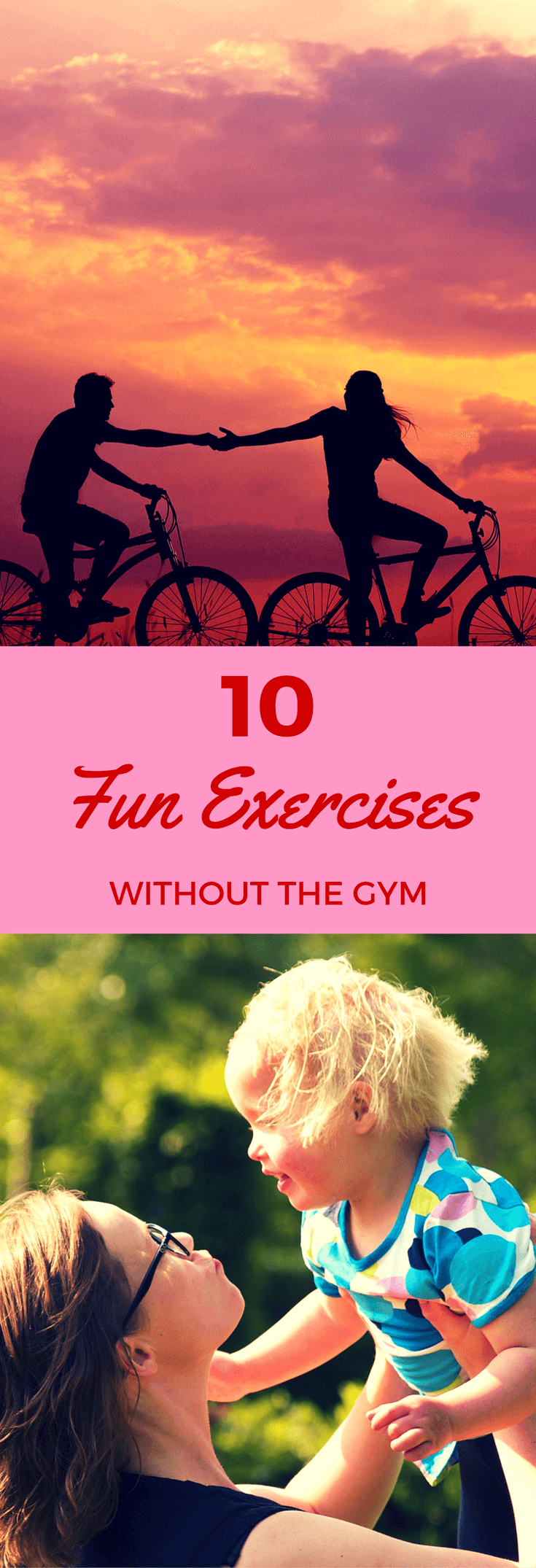 10 fun exercise ideas, activities and tips at home or outdoors to complement a diet for weight loss.