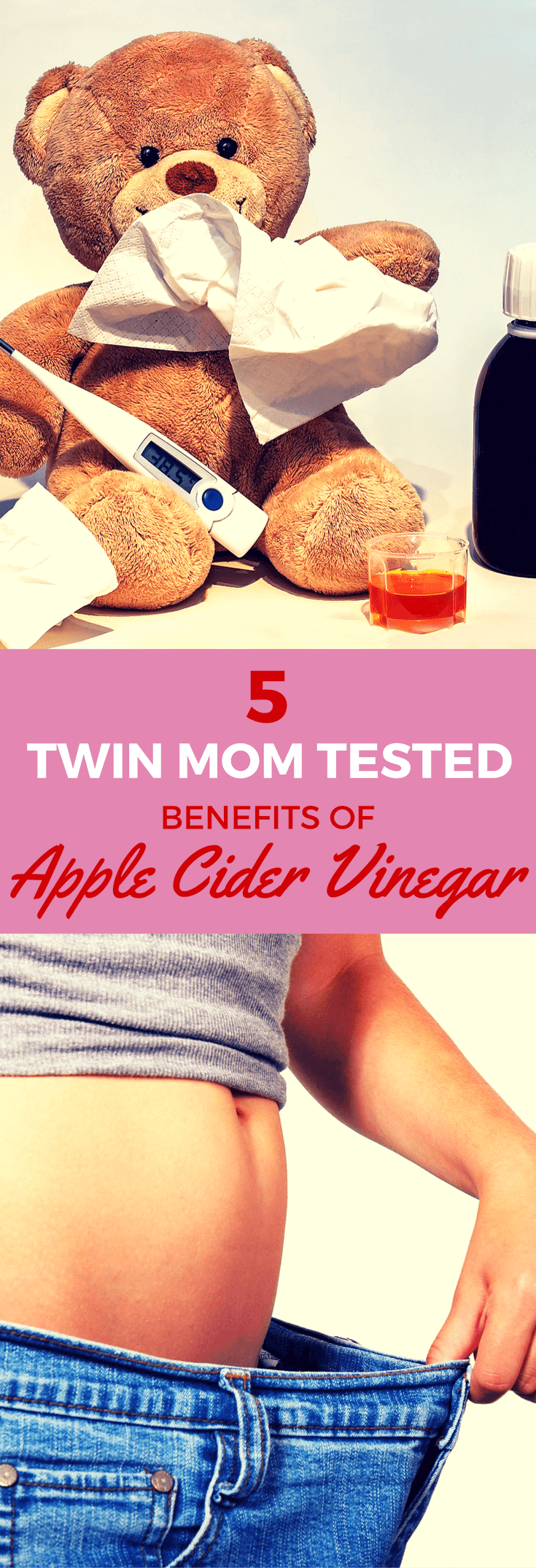 5 uses and benefits of apple cider vinegar including for weight loss, colds plus recipe for how to make apple cider vinegar drink.
