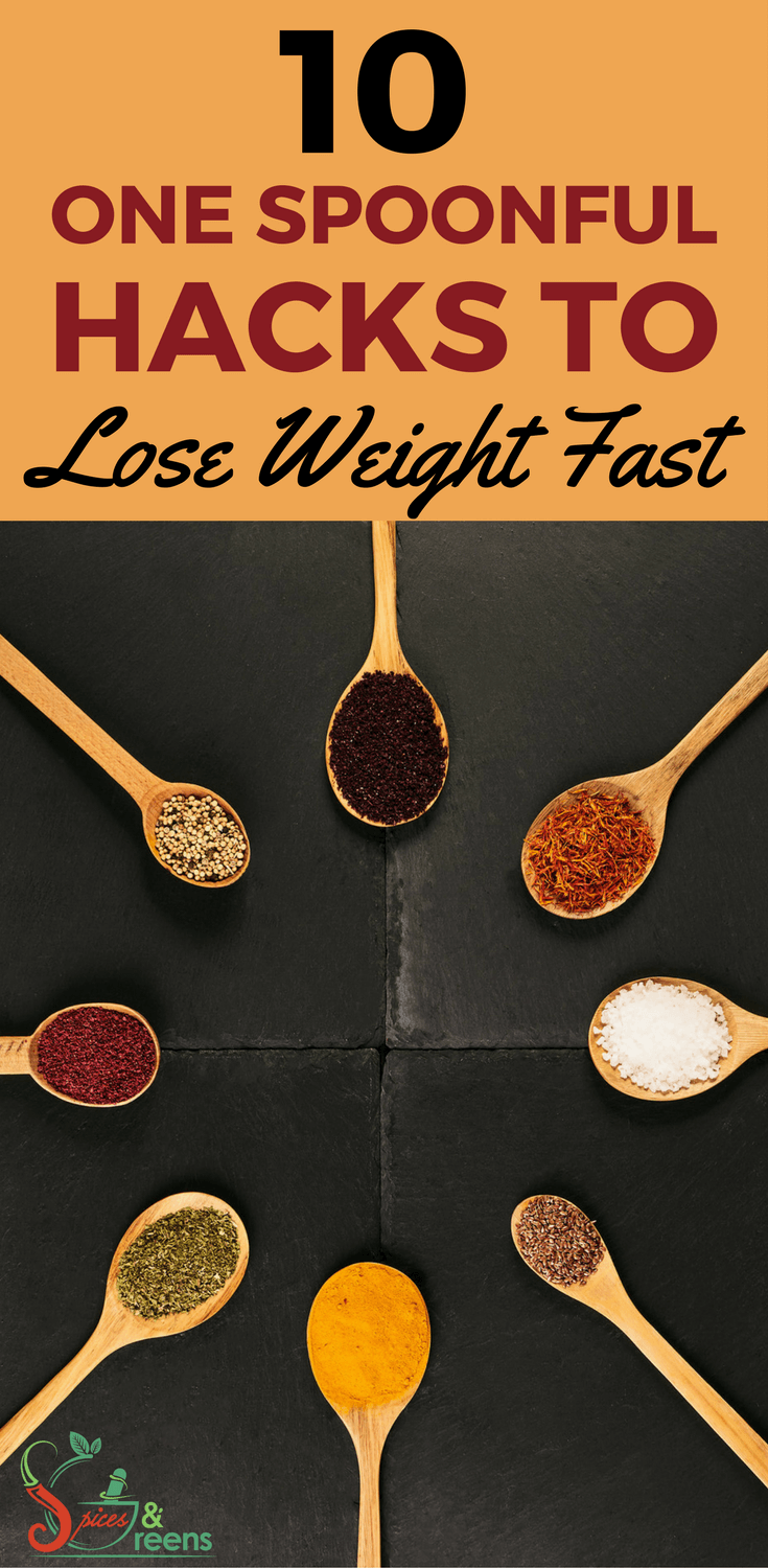 10 one spoonful hacks to lose weight fast including tips on fat burning foods,weightloss and healthy living made simple. #weightlosshacks #weightlosstip #loseweightfastandeasy #loseweightfast #fatloss #fatlossfood #losefatfast