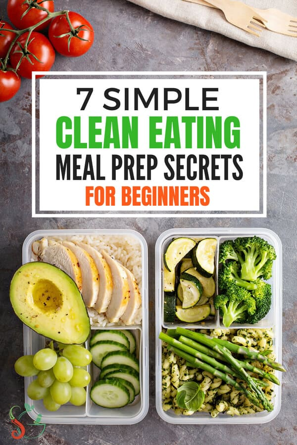 Easy tricks and ideas for clean eating meal prep for the week. Simple, healthy, low carb, no cook recipes for breakfast, lunch, snacks that are great for beginners and for weight loss. Tips to plan for clean eating meal prep for family or for one, including clean eating grocery list. #cleaneating #mealprep