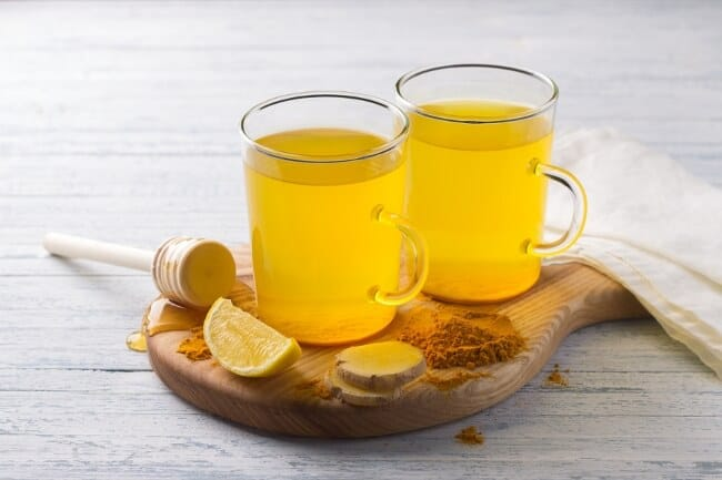 Teas for weight loss - turmeric ginger tea