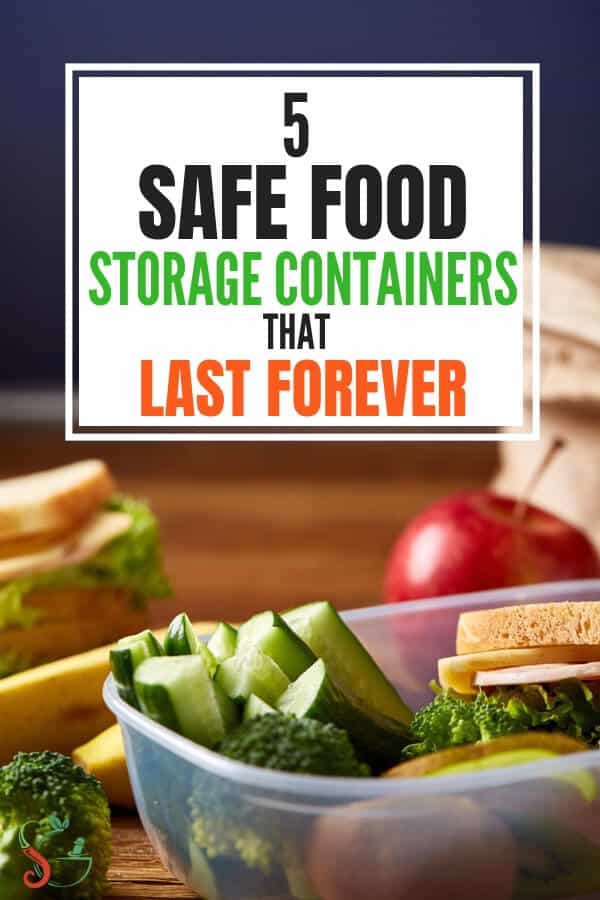 5 best safe food storage containers for refrigerator organization of meal prep and leftover foods. Tips include glass, metal food storage containers and ideas such as bulk freezer cooking to lunch boxes, space saving using stackable containers for small kitchens, plastic use safety tips, and more! #foodstorage #mealprep #mealprepideas