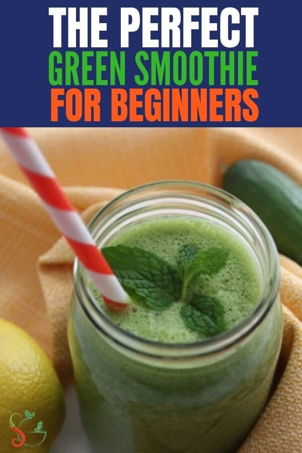 Easy beginner green smoothie recipe for weight loss. Best as a healthy breakfast to cleanse, detox, gain energy, and for glowing skin!