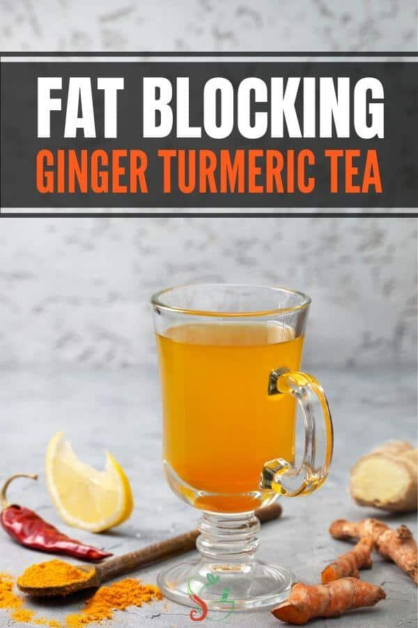 This ginger turmeric tea recipe is one of the best detox drinks for colds, boosting your immune system, and weight loss! The spices in this tea are full of health benefits Includes detailed instructions on how to make this healthy ginger tumeric tea with coconut oil and sweetened naturally with honey or maple syrup. #healthyeating #cleaneating #healthyliving #healthylifestyle #tumeric #recipe #ginger #turmeric #detoxtea