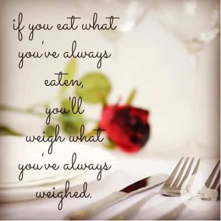 Weight loss motivational quote - eating