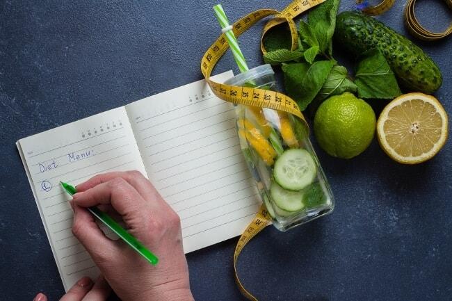 cucumber lemon mint detox water - weight loss