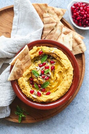 Make ahead thanksgiving appetizer - Sweet Potato Hummus