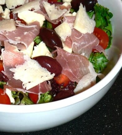 Make ahead thanksgiving appetizer - antipasto salad