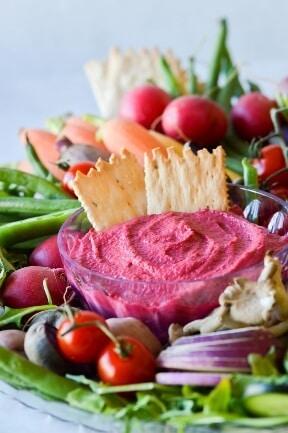 Make ahead thanksgiving appetizer - beet dip