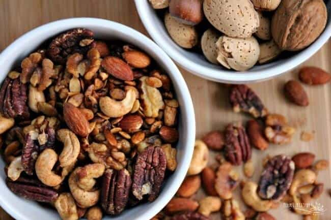 Make ahead thanksgiving appetizer - spiced nuts