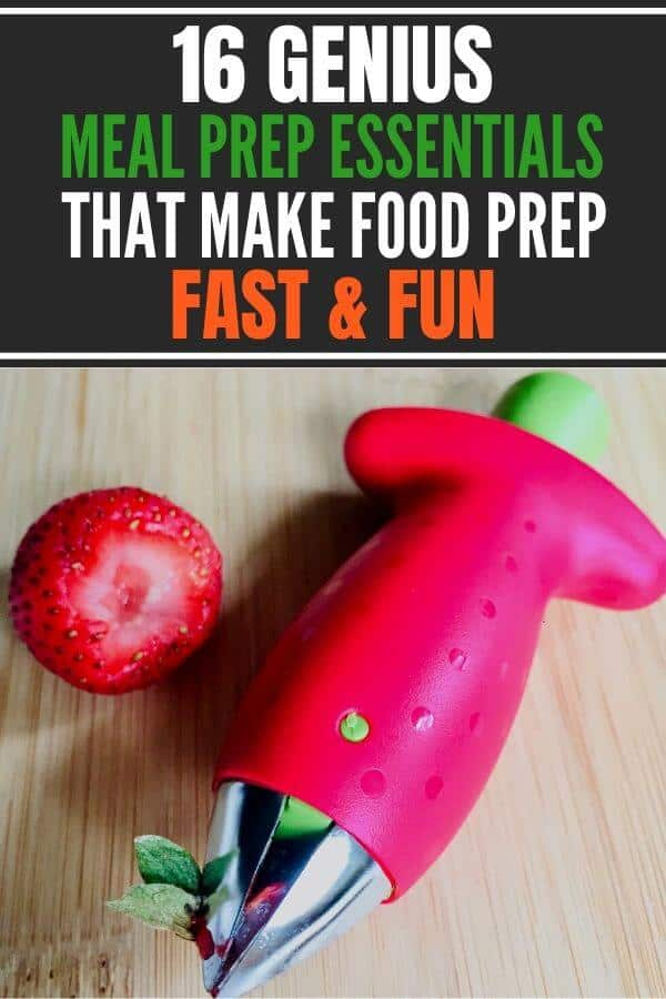 16 coolest meal prep essentials that make healthy eating easy and fun, Includes meal prep tools, containers for food storage, meal prep tips and grocery list. #mealprepessentials #simplemealprep #mealpreptips