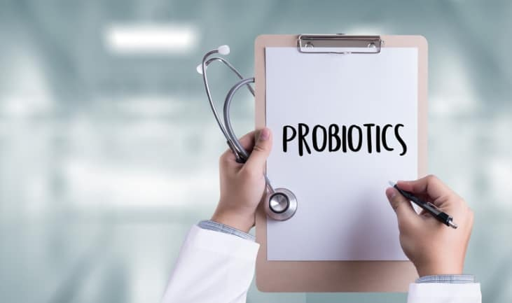 Probiotics medical equipment eating healthy concept.