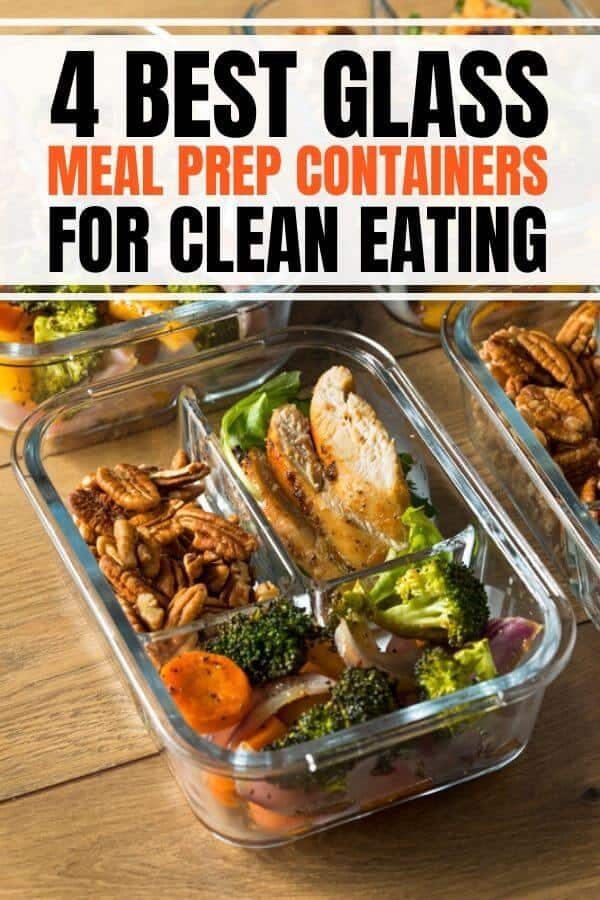 Best glass meal prep containers products for clean eating. Recommendations include containers with 3 compartment perfect for lunch ideas with sides, plus containers with protective sleeves to make it last forever. #mealprep #mealprepcontainers #storage #storagecontainers #glasscontainers