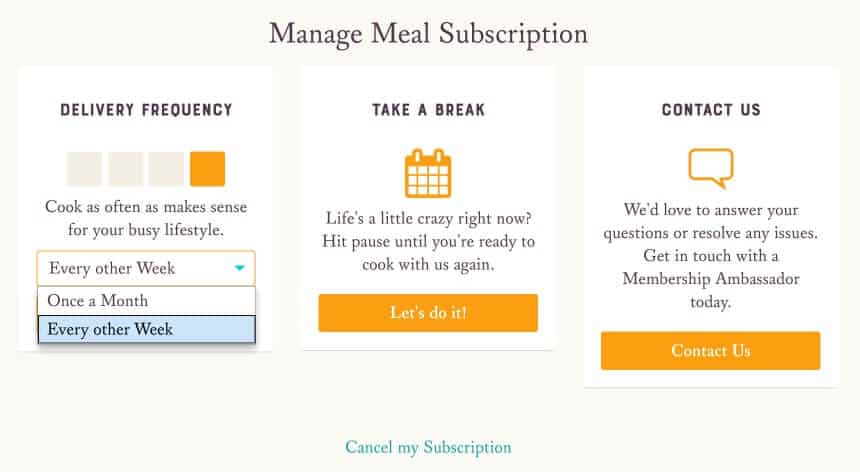 Sun Basket Review - Manage and Cancel Subscription