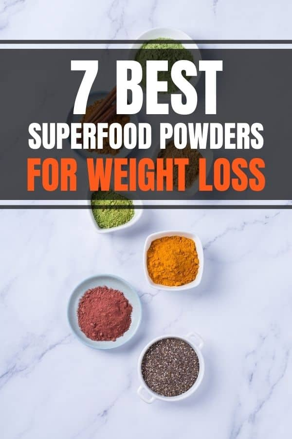 Best superfood powders for weight loss that you can add to your smoothie recipes or shake. Include healthy benefits of green powder mix, organic or vegan products and brands.#superfood #weightloss