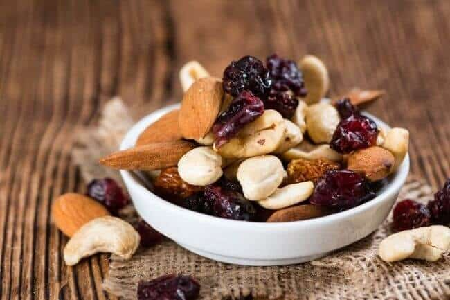 healthy late night snack - trail mix
