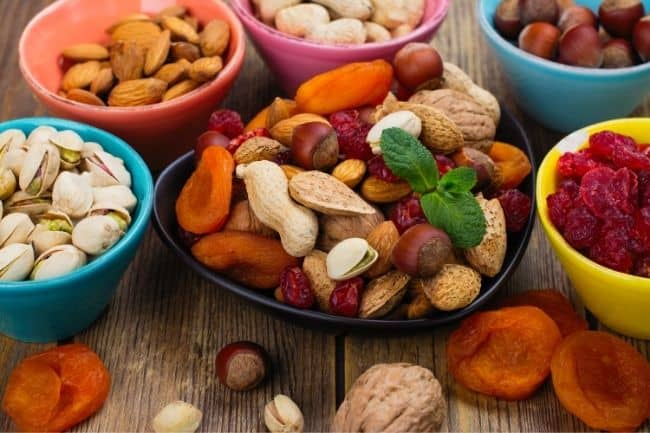 Immunity boosting foods for kids - dry fruits