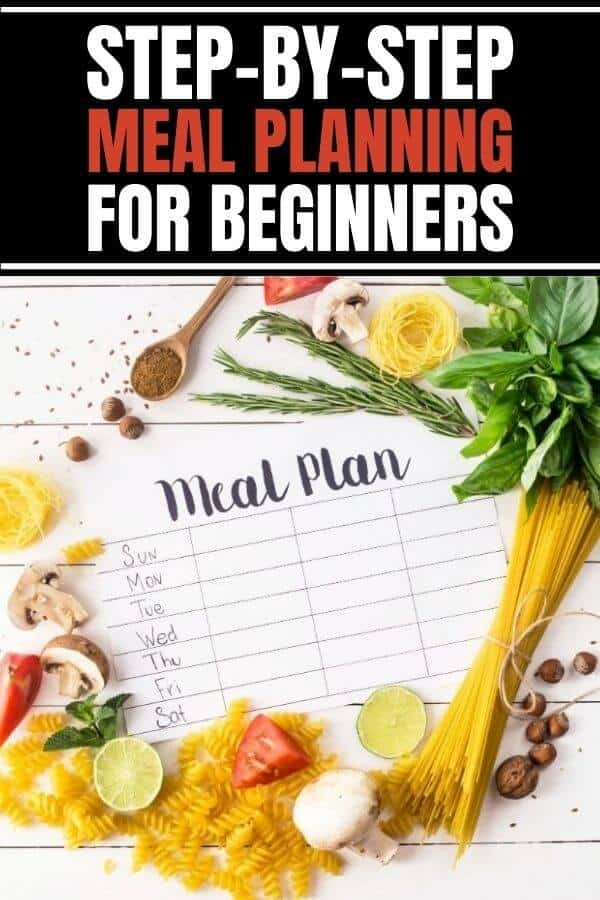 Easy meal planning for beginners with step-by-step how to.