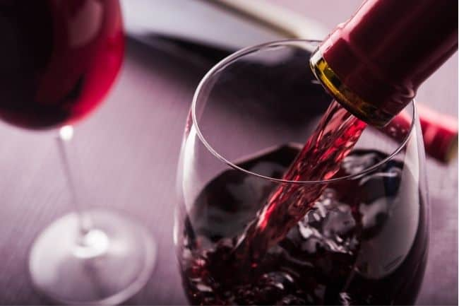 Anti-aging drinks - red wine